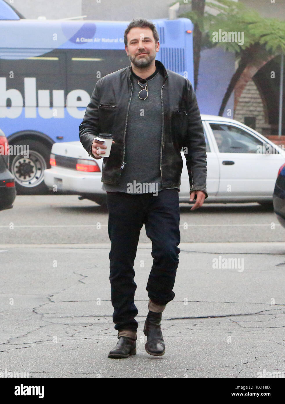 Ben Affleck passe avec sa petite amie le shopping. 05 janvier, 2018 Crédit: Gtres información más Photo Stock
