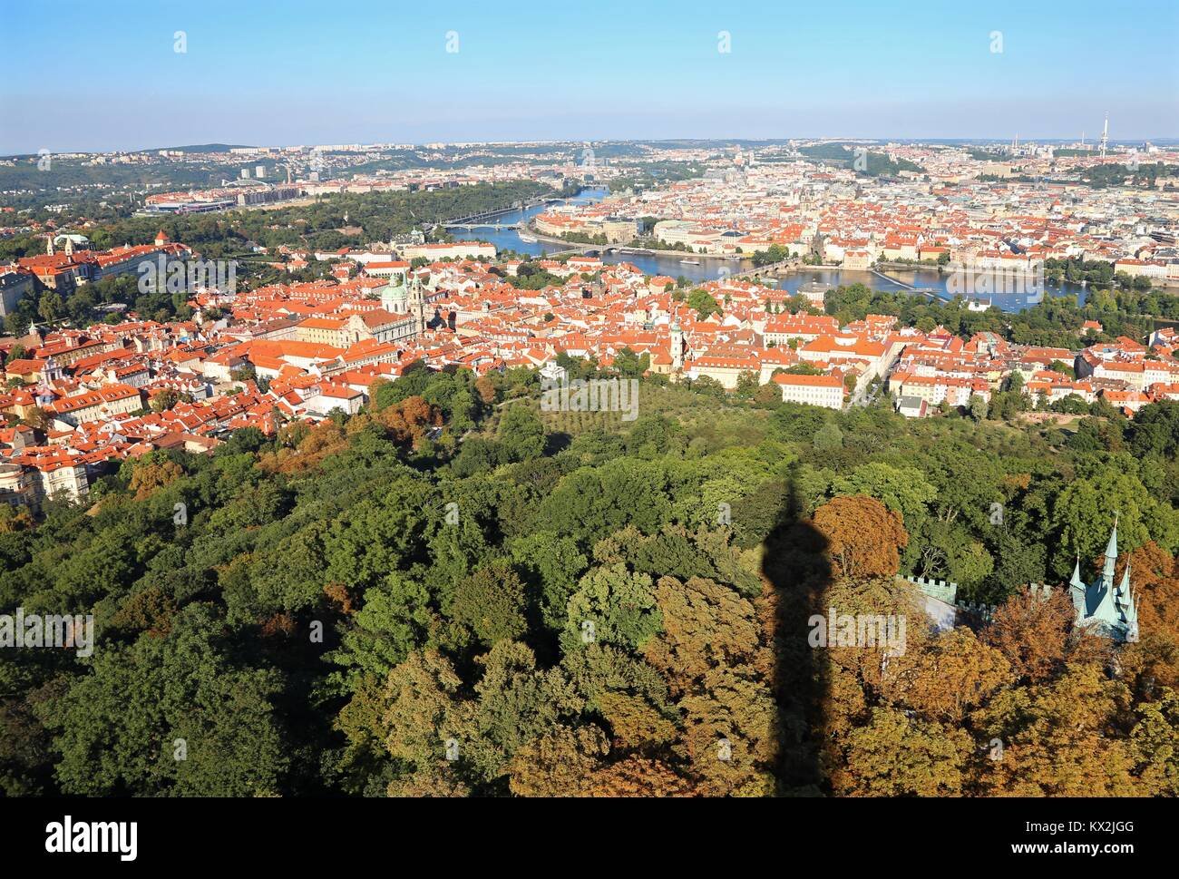 Prague, République tchèque - 24 août 2016: vue panoramique ofe la capitale européenne Photo Stock