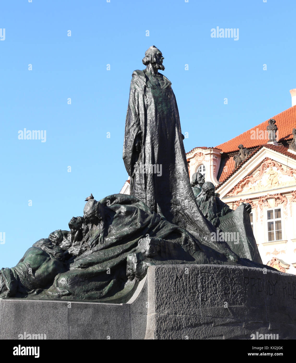 Prague, République tchèque - Le 23 août 2016: Mémorial de Jan Hus sur la place de la vieille Photo Stock