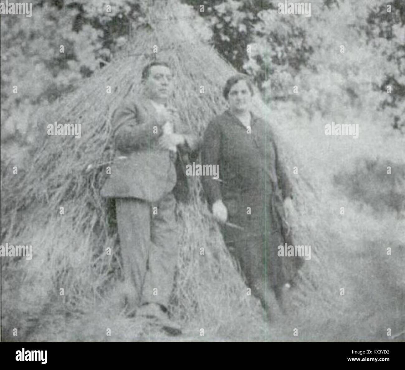 Darío Alvarez Limeses e María Blázquez Ballester, Baión 1928 Banque D'Images