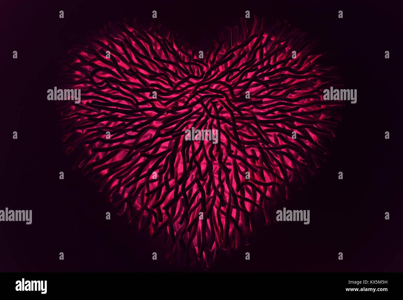 Valentines heart shape Photo Stock