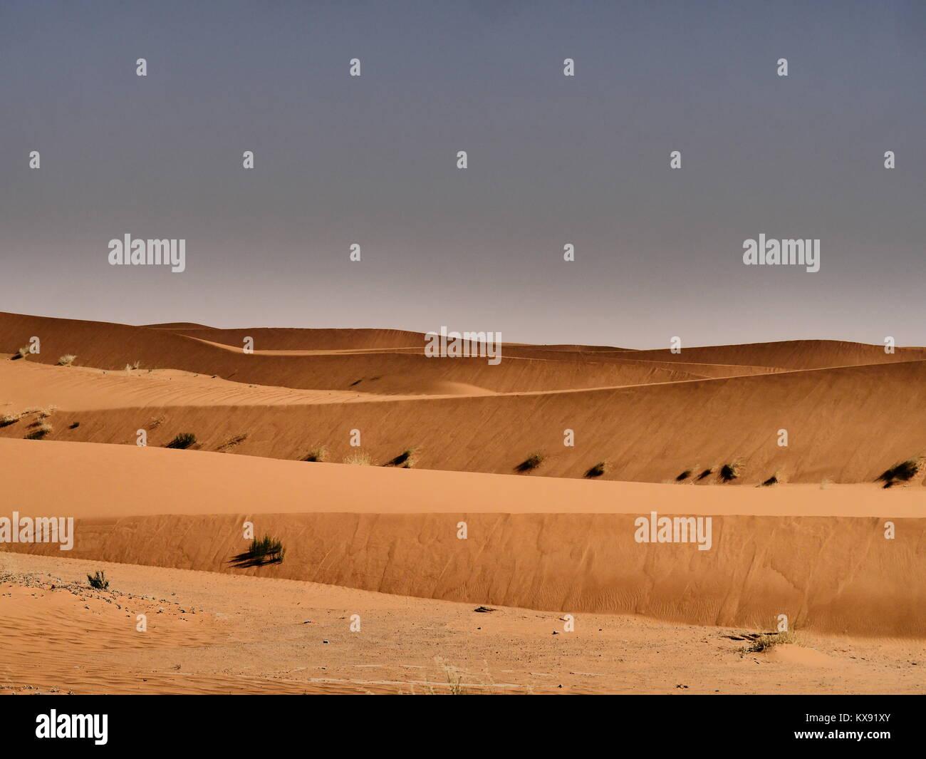Voyageant dans le désert en Arabie Saoudite Photo Stock