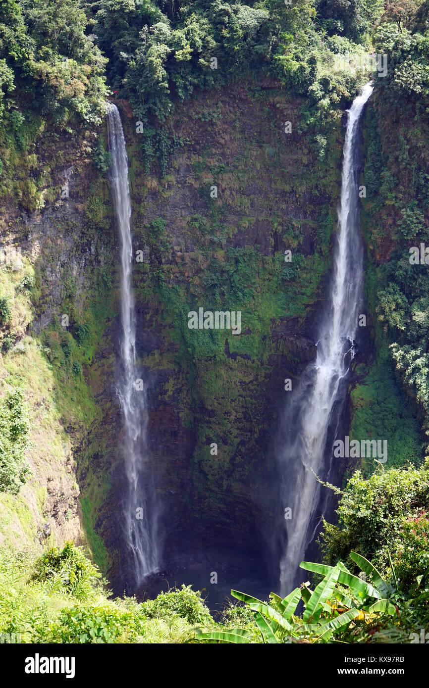 Cascade de Tad Fane sur le Plateau Boleven au Laos Banque D'Images