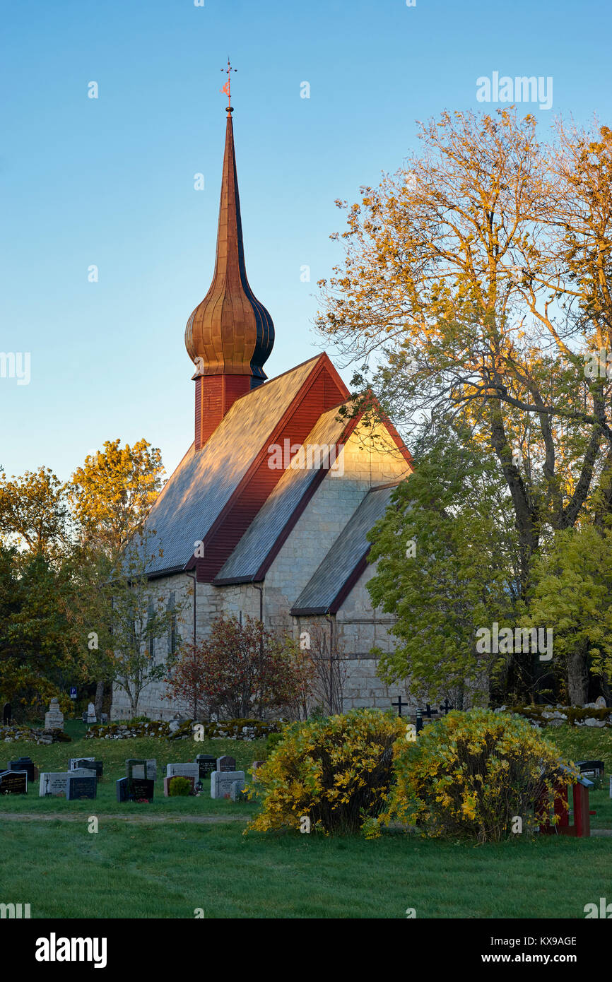 L'Église à l'Alstahaug Petter Dass Musée, Alstahaug, Nordland, Norvège Photo Stock