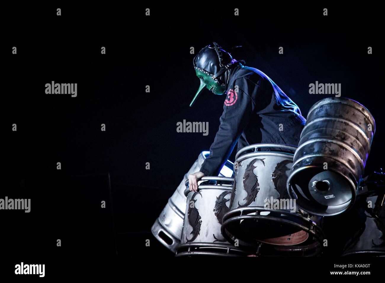Le Groupe De Heavy Metal Americain Slipknot Effectue Un Concert Live Au Festival