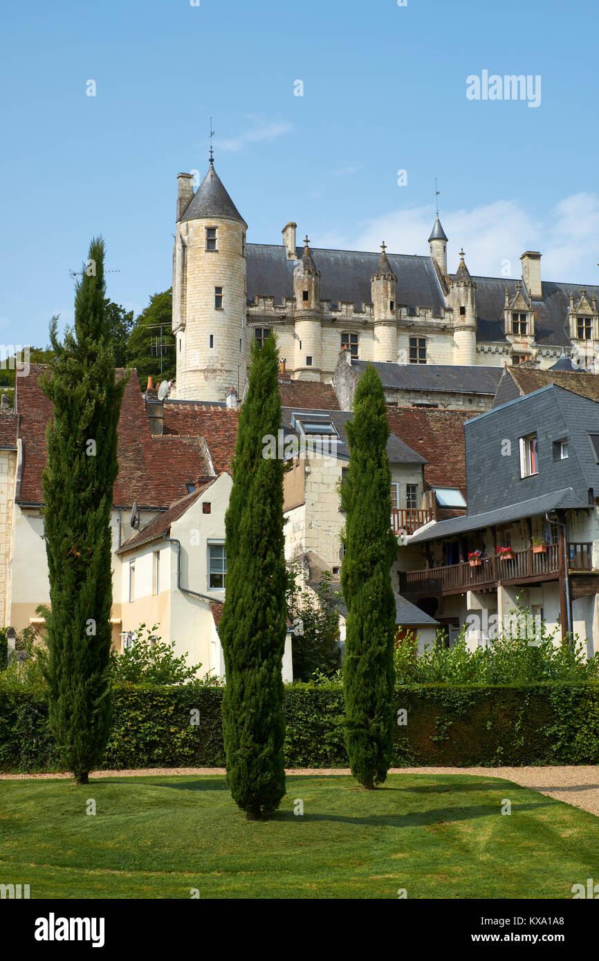 La ville médiévale de Loches, dans la vallée de la Loire Région Pays de la Loire Photo Stock