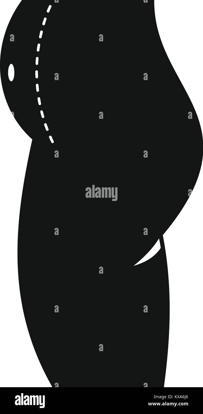 f1653eb00f6c64 Femme prêt à la chirurgie du ventre, l icône de style simple ...