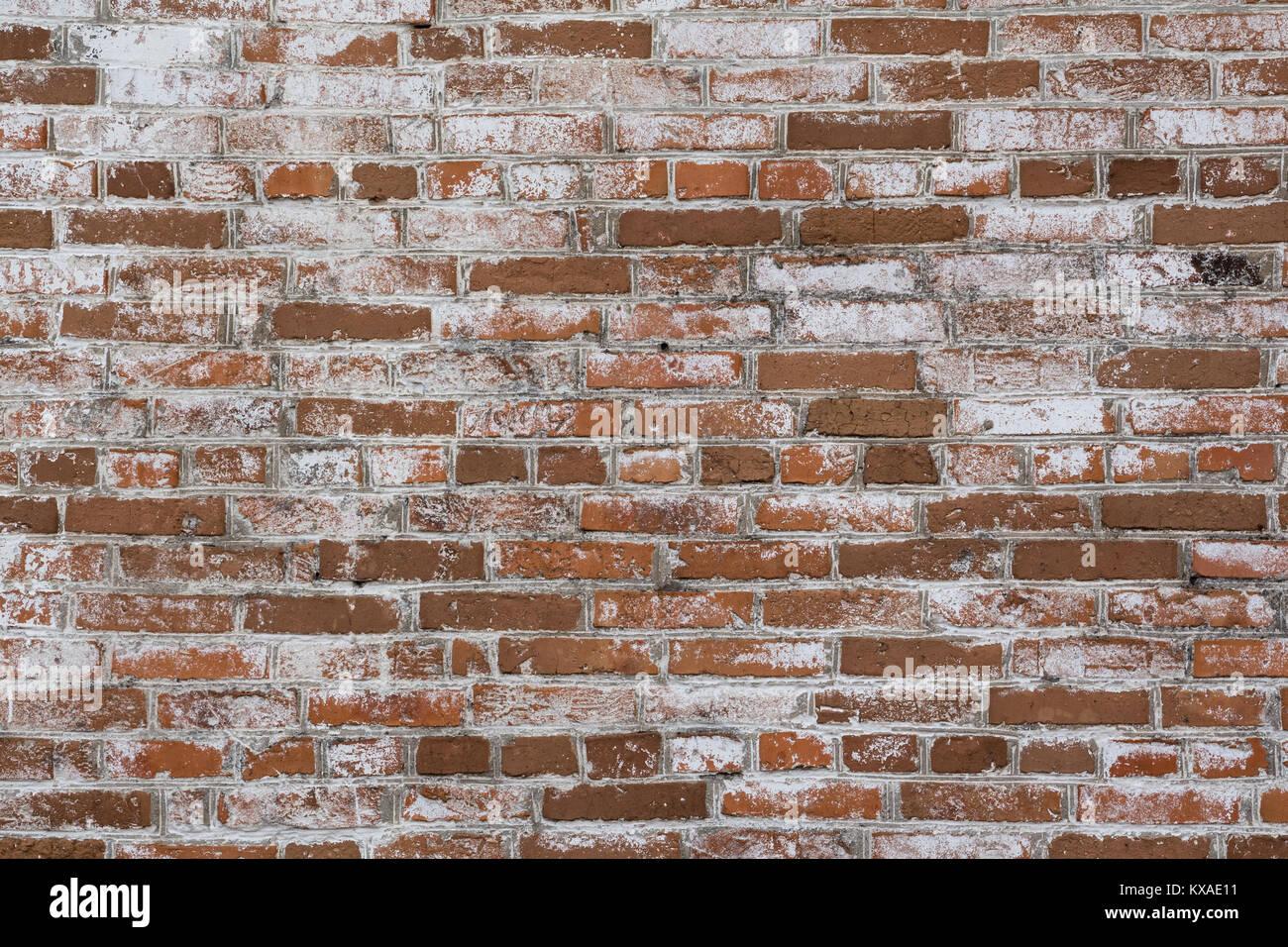 Mur En Brique Rouge arrière-plan frontal du mur de brique rouge et blanc banque