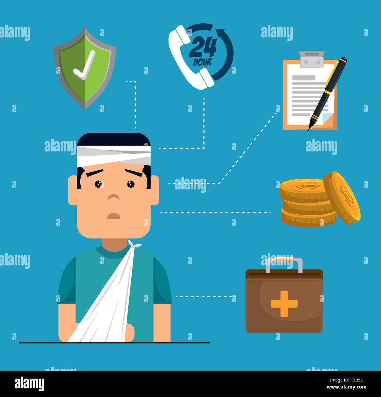 Le concept de service d'assurance santé Photo Stock