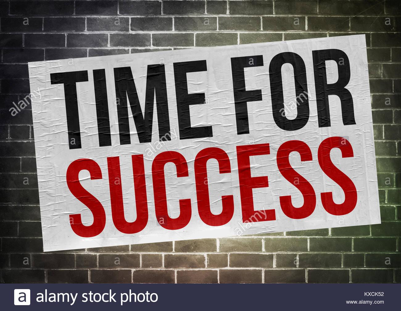 Temps pour le succès - concept de l'affiche Photo Stock