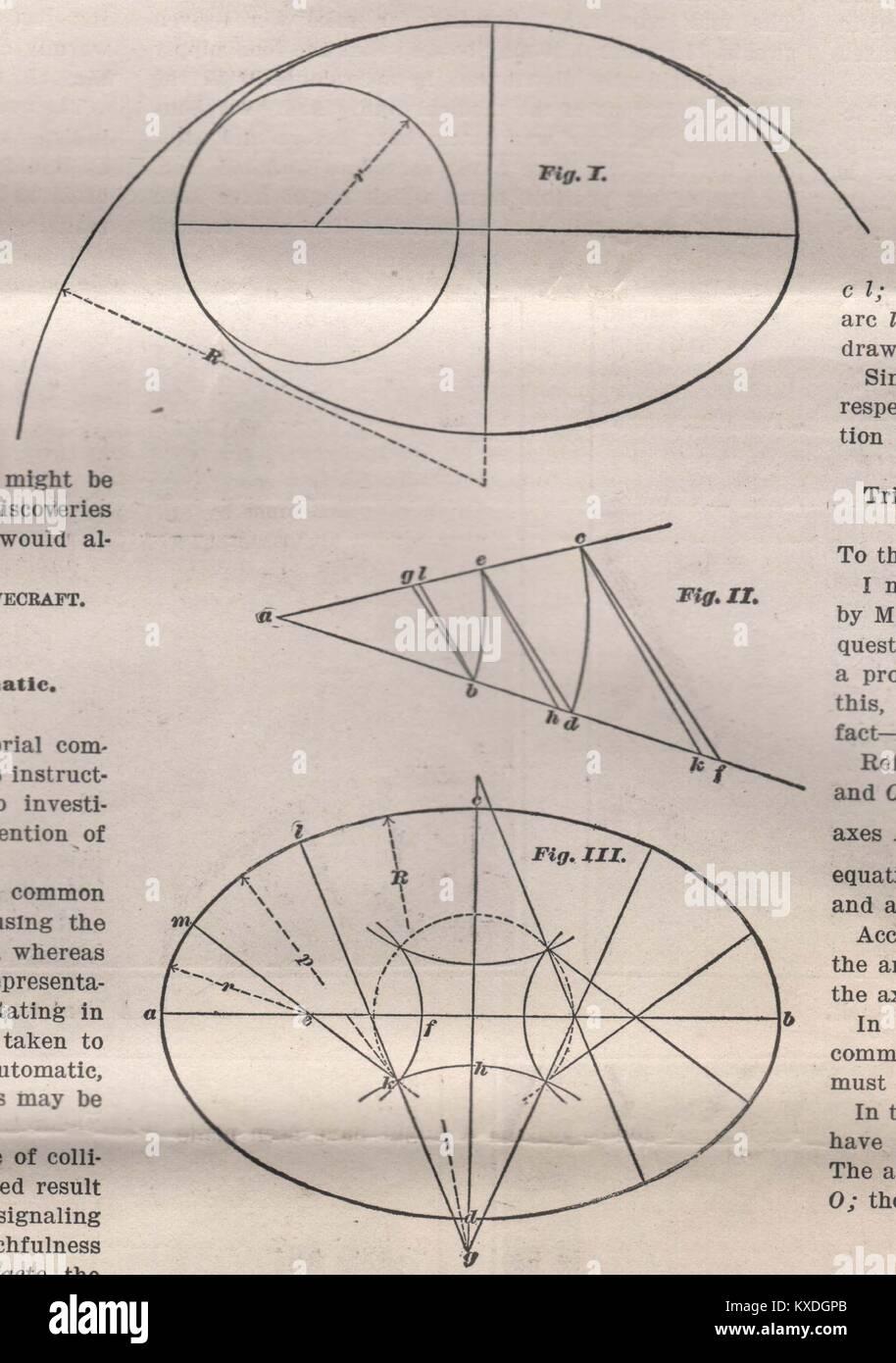Le Eight-Centered Ellipse Photo Stock