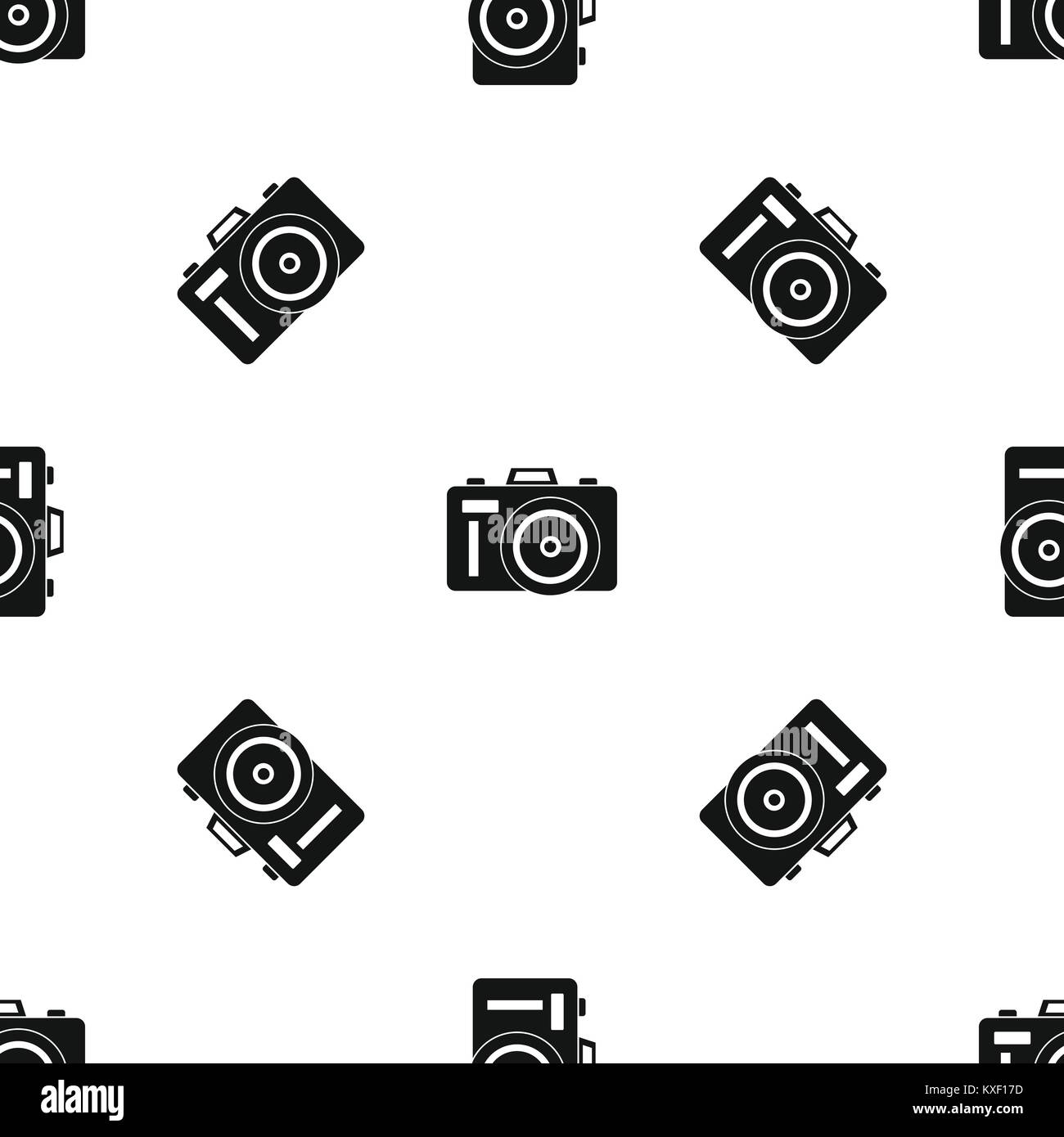 Noir transparent motif Photocamera Photo Stock