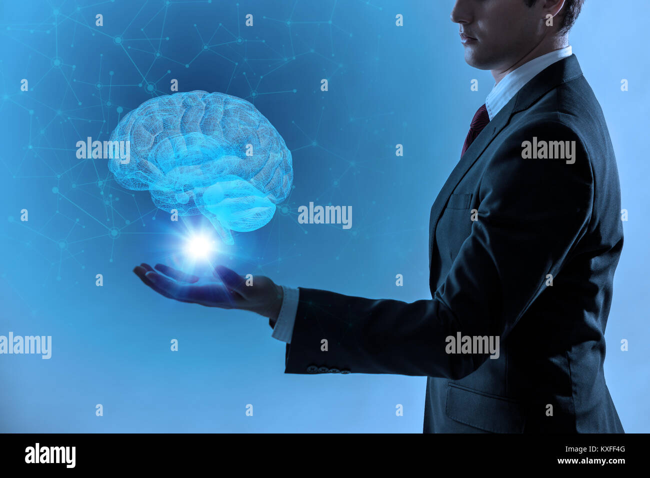 L'Intelligence Artificielle(IA) concept, rendu 3D Photo Stock
