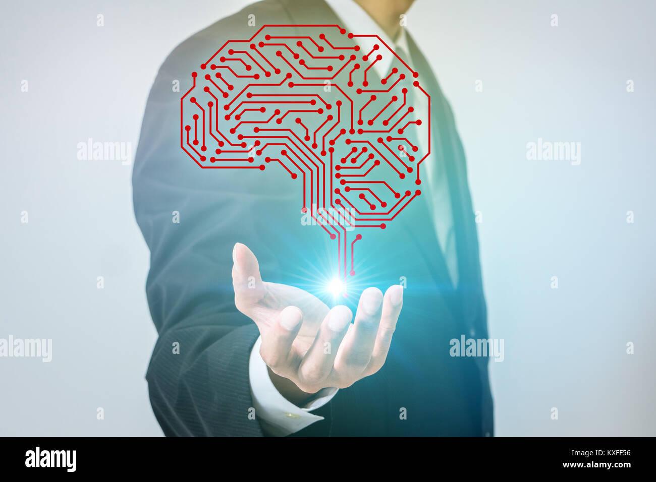 L'intelligence artificielle (IA) concept. Photo Stock