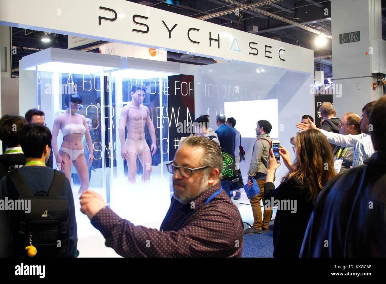 Las Vegas, NV, USA. Jan 9, 2018. La cryothérapie corps entier par Psych Sec présents pour 2018 International Photo Stock
