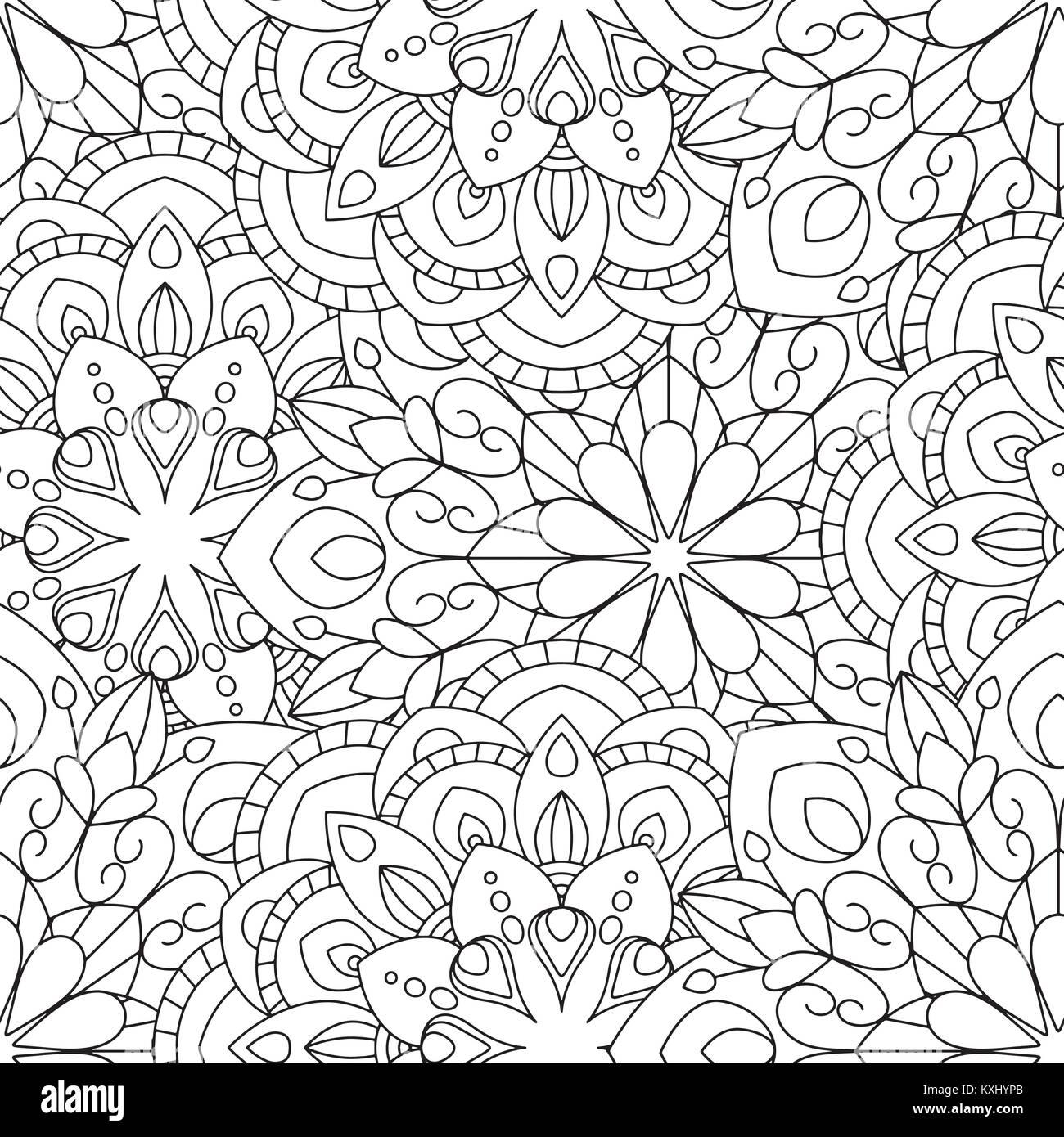 Mandalas doodles de Fond transparent Illustration de Vecteur