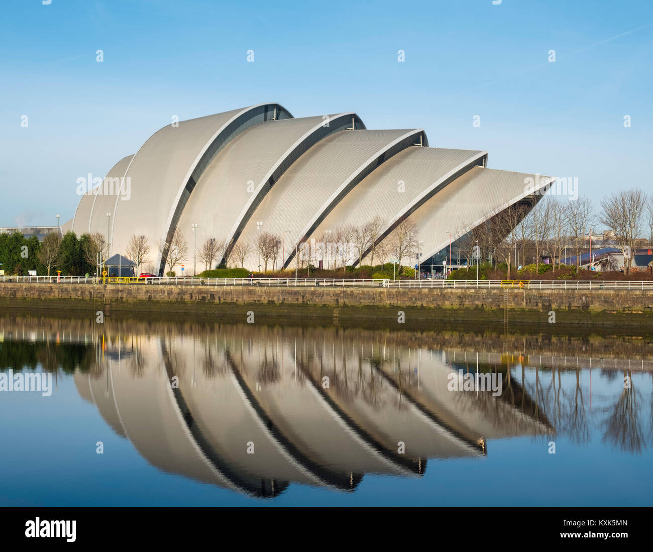 Avis de SEC à côté du centre d'Armadillo Clyde à Glasgow , Royaume-Uni Photo Stock