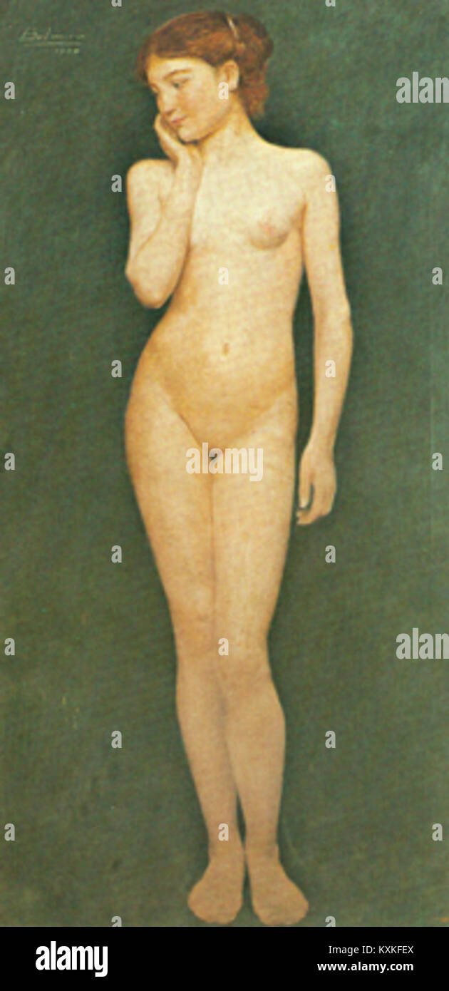 Belmiro de Almeida - Adolescente, 1904 Photo Stock