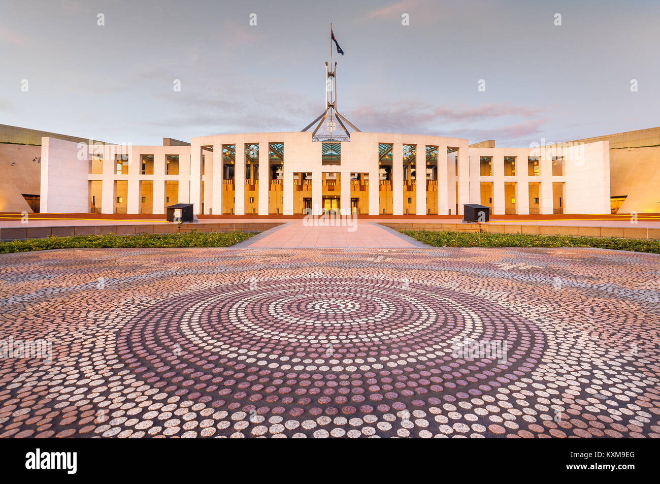 Chambre du Parlement à Canberra. Photo Stock