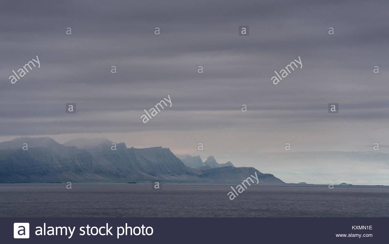Côte sud-est de l'Islande, Photo Stock