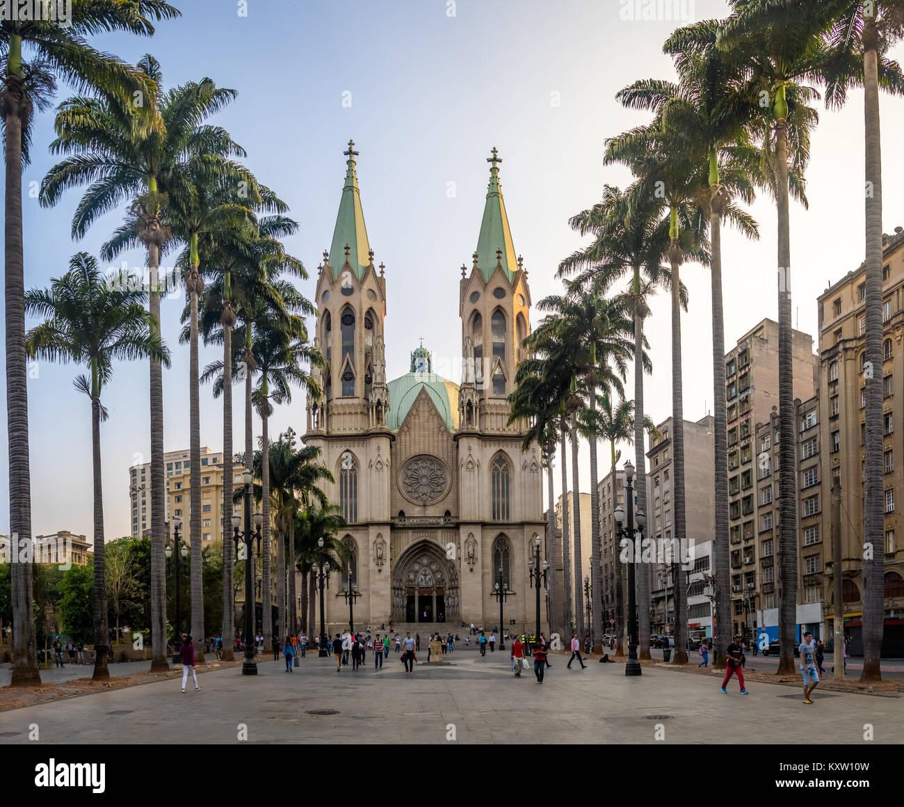 Cathédrale Se - São Paulo, Brésil Photo Stock