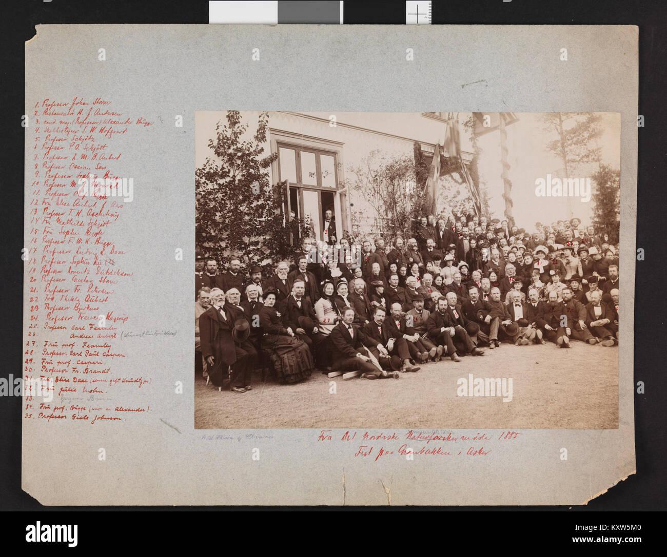 Fra Det Nordiske 1885 Naturforskermøde. Fest paa Granbakken j'Asker - pas-nb digifoto bldsa 2016031500527 Photo Stock