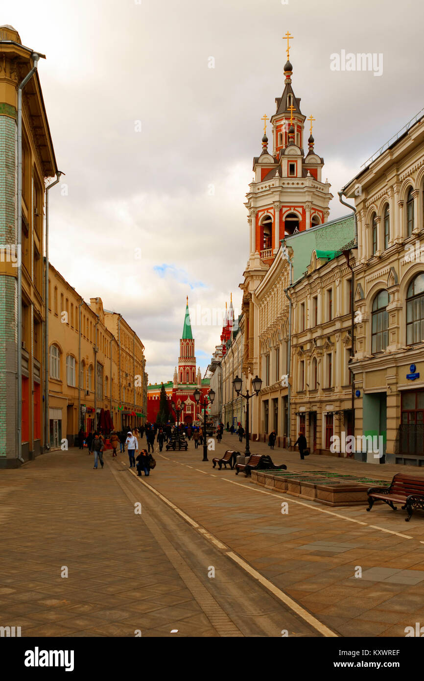 Moscou, Russia-April 9:2015, Moscou est la capitale et ville la plus peuplée de la Russie, avec 12,2 millions de résidents dans les limites de la ville et 17,1 milli Banque D'Images