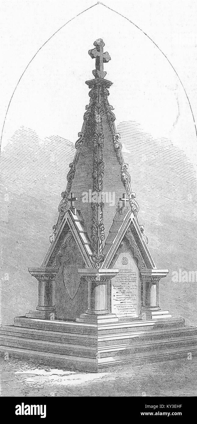 SURAT Monument, construit par 56e regt de camarades de 1867. Illustrated London News Photo Stock