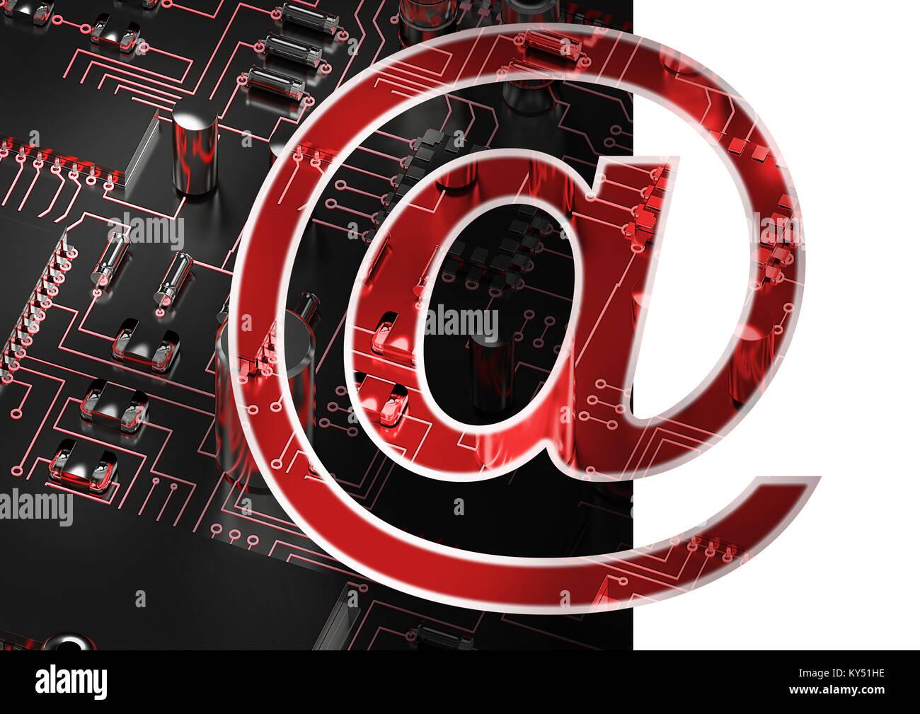 Image composite du symbole à l'e-mail Photo Stock
