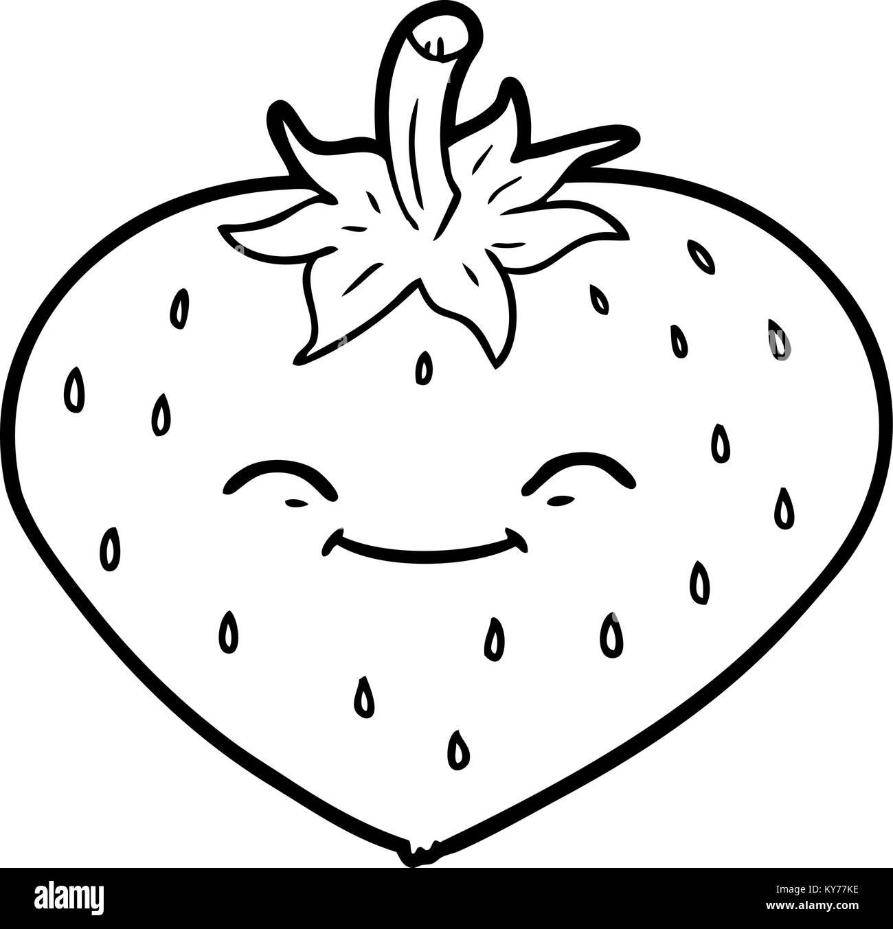 Fraise Dessin Anime Vecteurs Et Illustration Image Vectorielle