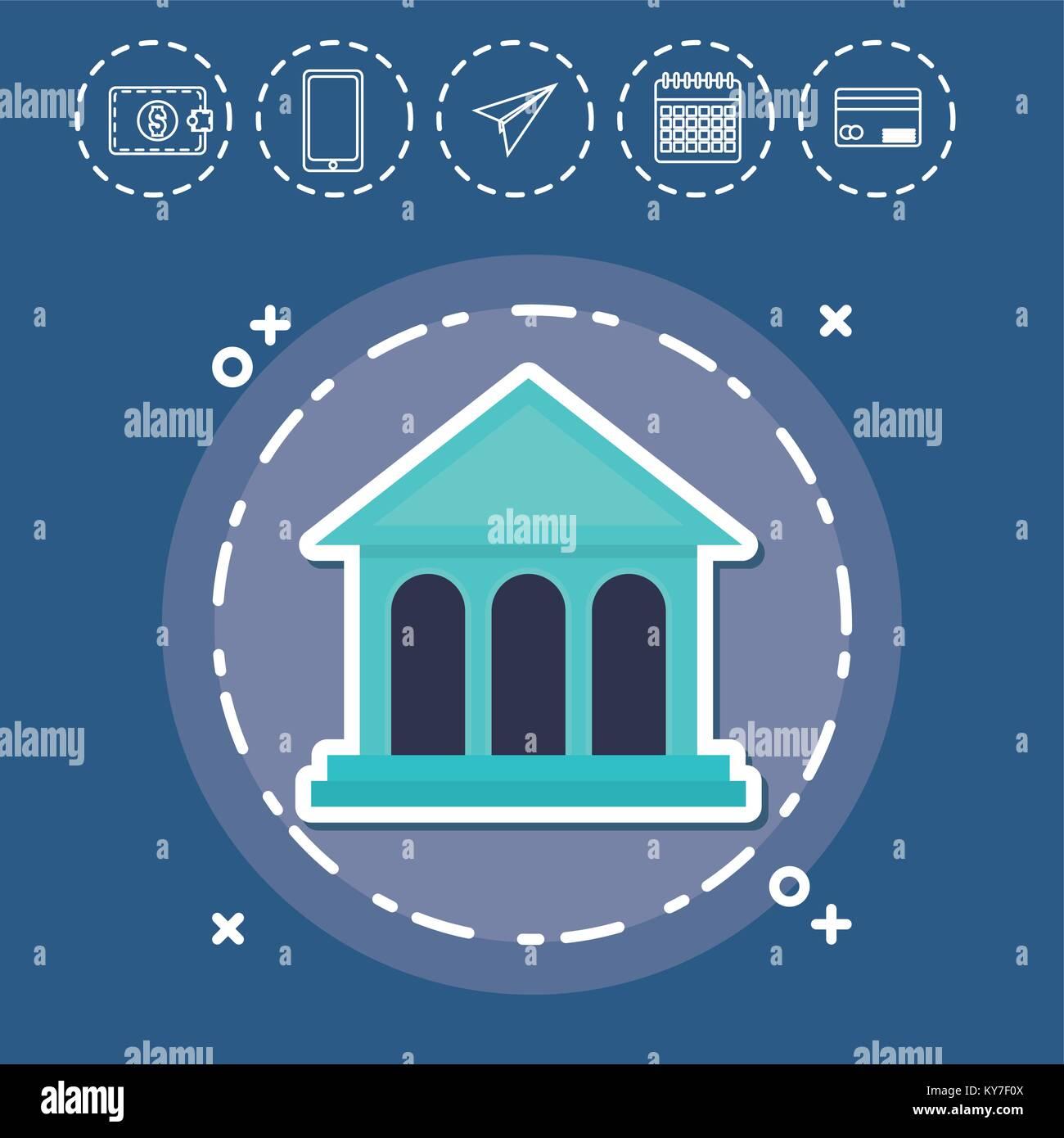 Fintech banque financière Investissement Concept Technologie Internet Illustration de Vecteur