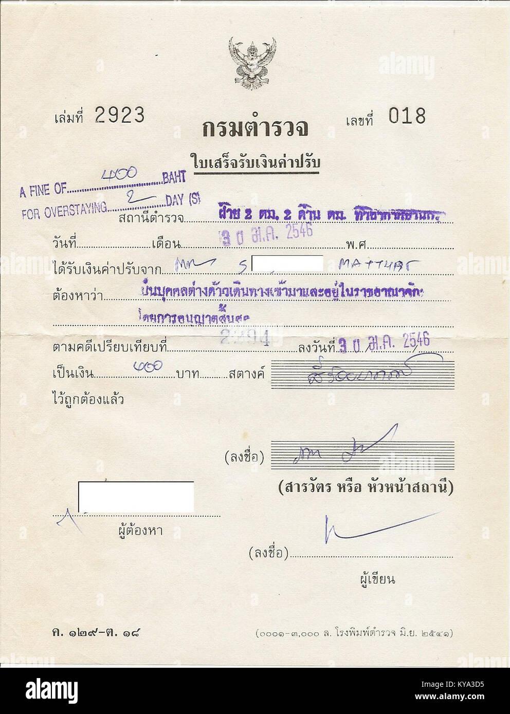 Thaïlande - restent très bien pour 2 jours Photo Stock