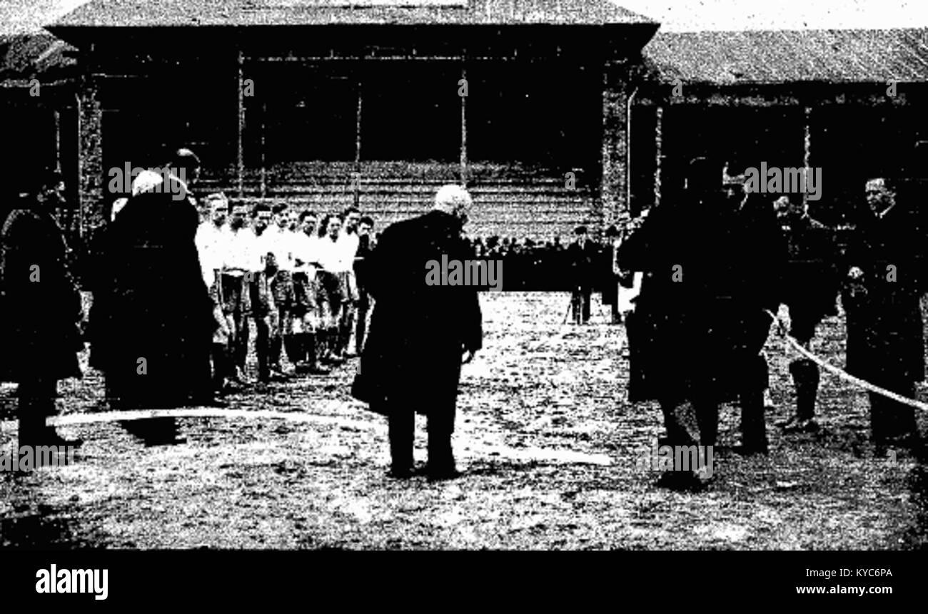 Otwarcie Wisły stadionu w 1922 Banque D'Images