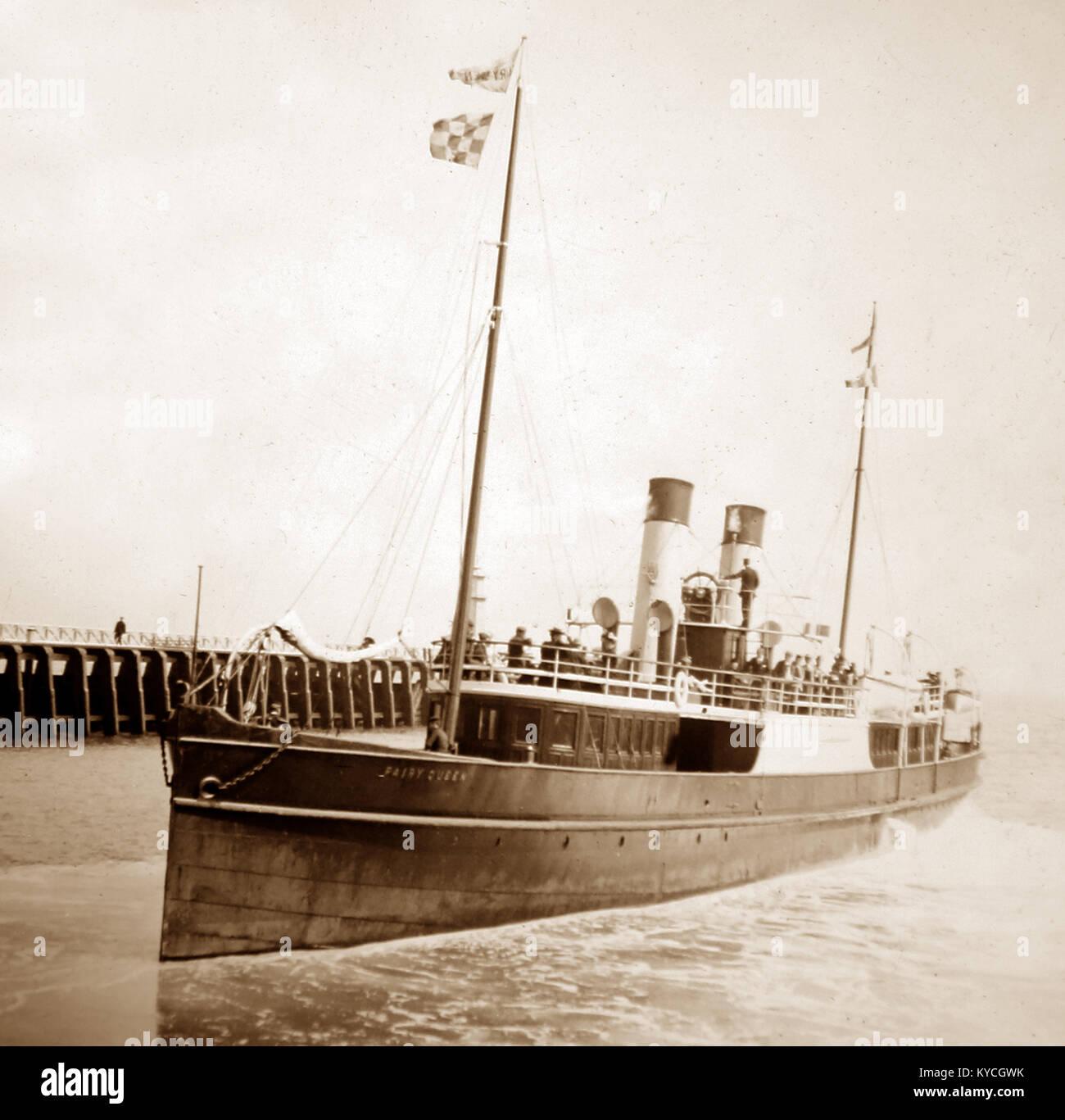 Bateau à vapeur 'Fairy Queen', début des années 1900 Photo Stock