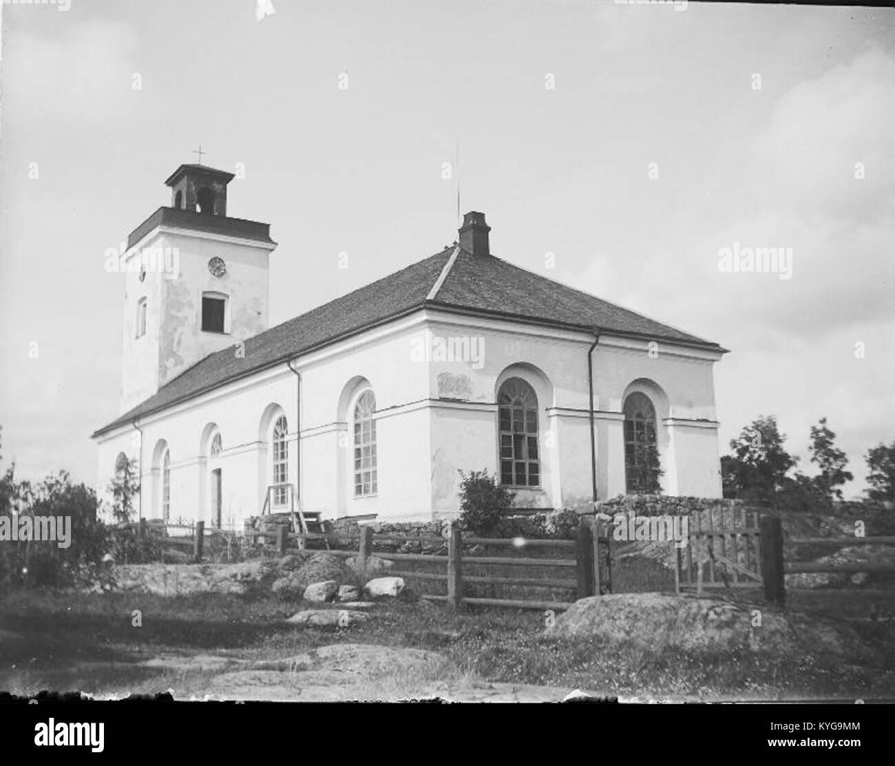 Rådmansö kyrka - KMB - 16000200127789 Banque D'Images