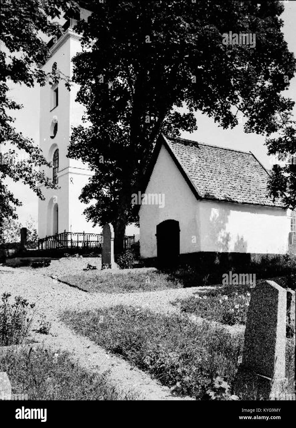 Rådmansö kyrka - KMB - 16000200127800 Banque D'Images
