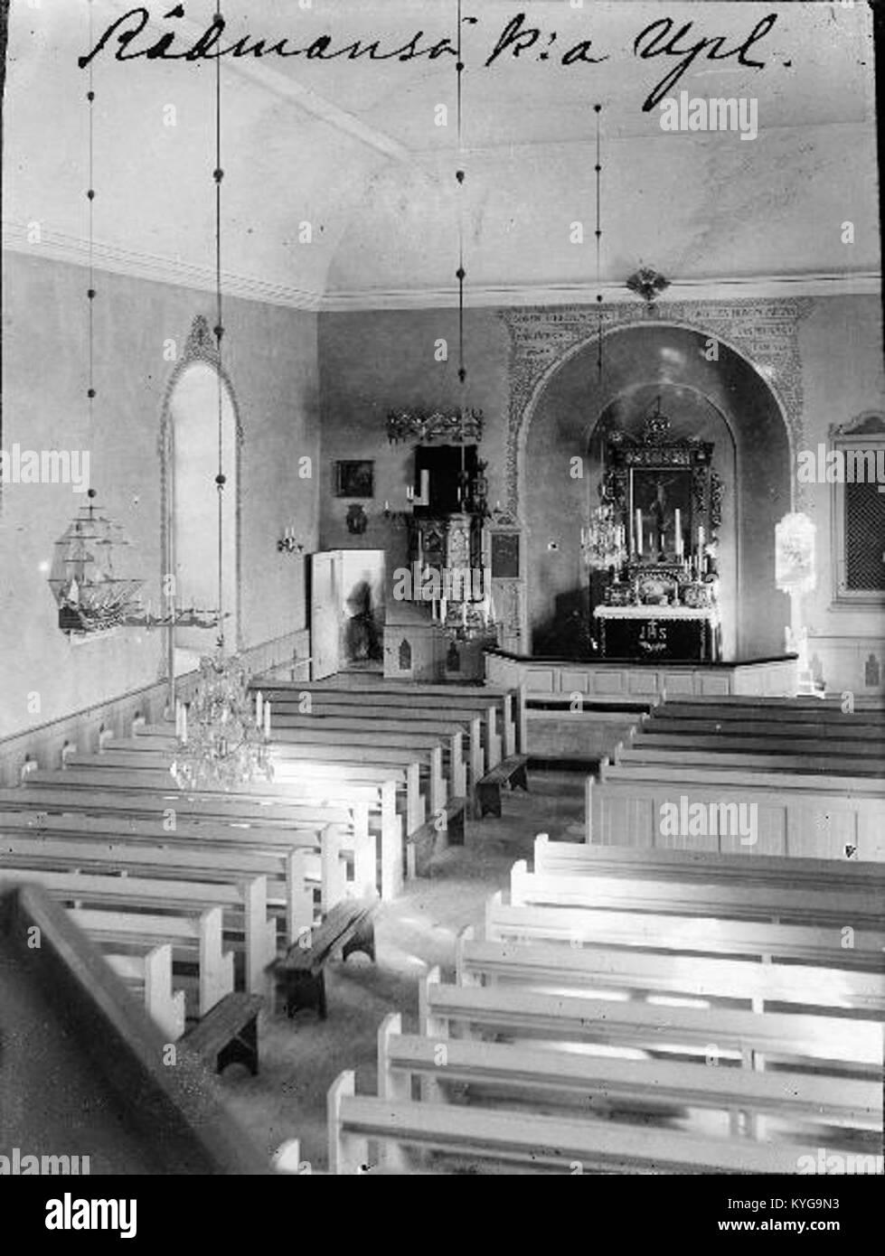 Rådmansö kyrka - KMB - 16000200127806 Banque D'Images