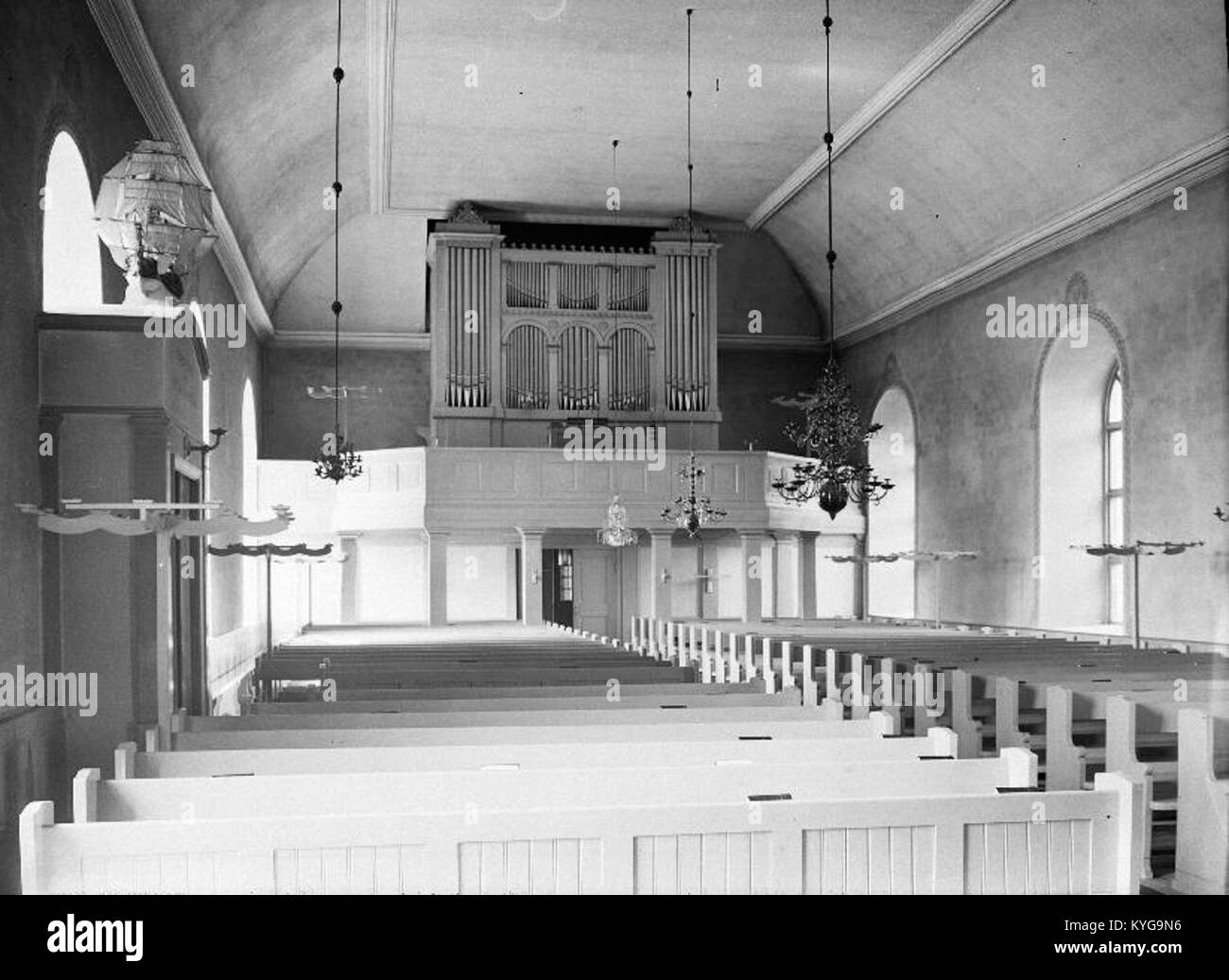 Rådmansö kyrka - KMB - 16000200127813 Banque D'Images