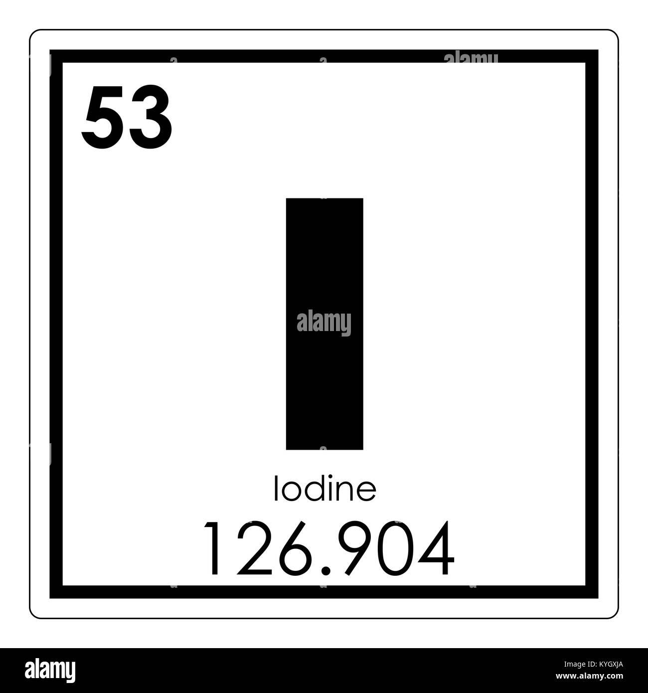 Tableau Periodique Des Elements Chimiques Iode Symbole De La Science Photo Stock Alamy