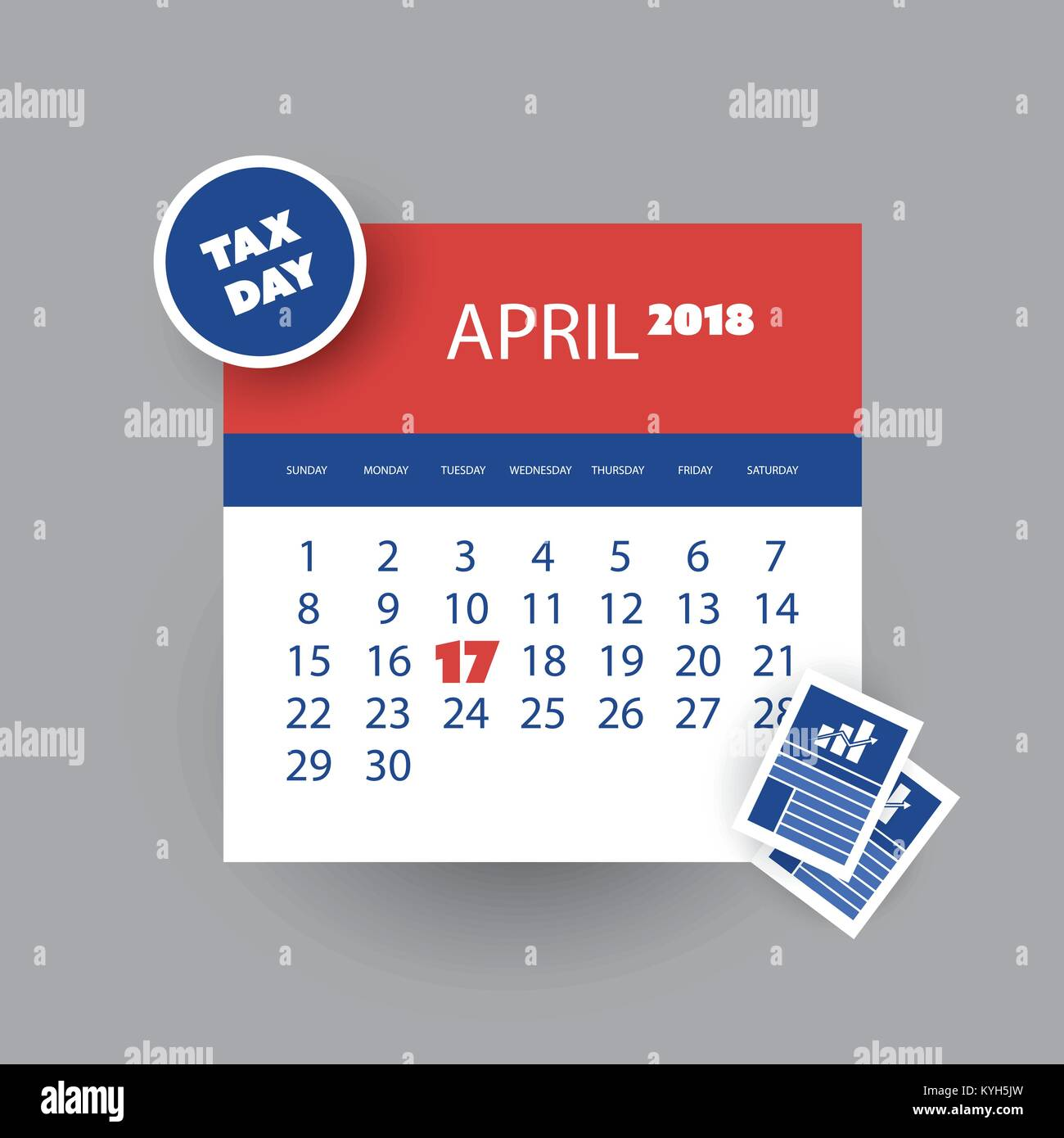 Tax Day Concept Rappel Calendrier Modele De Conception