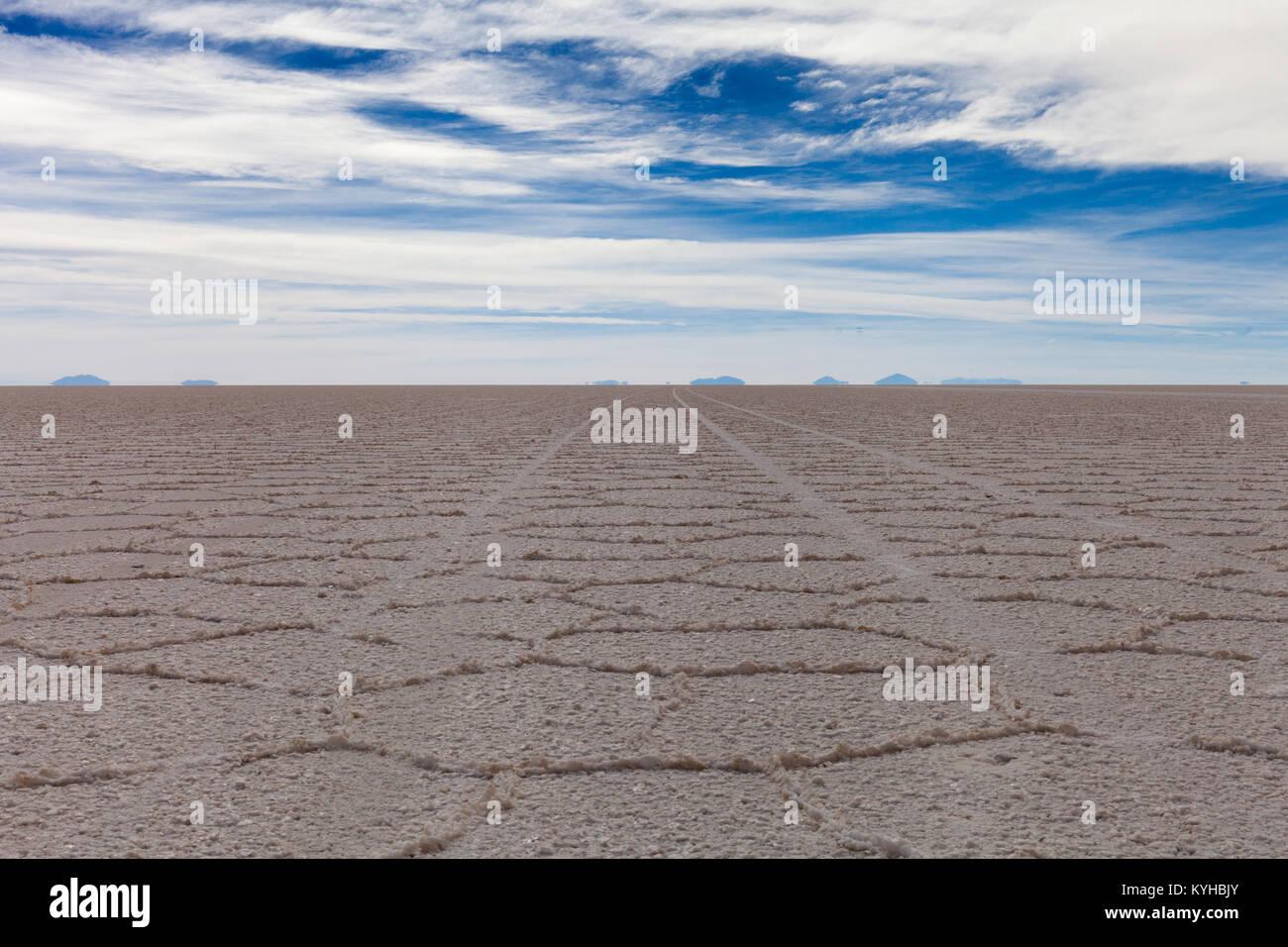 Salar de Uyuni salt marsh Photo Stock