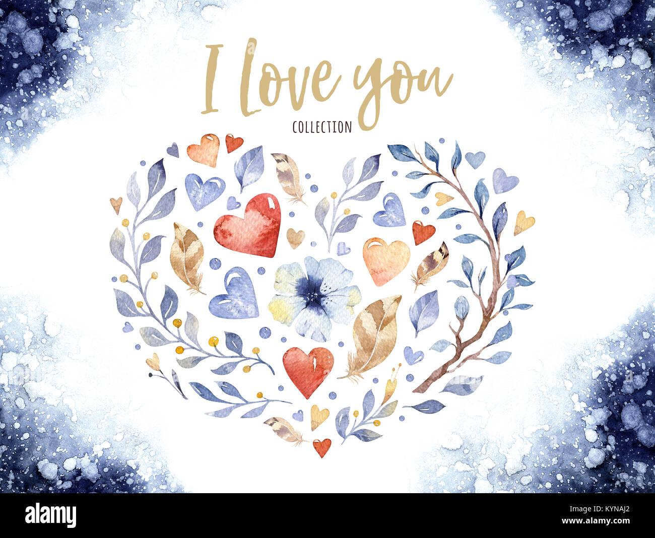 Belle amour floral forme de coeur pour la saint valentin ou un mariage de belles fleurs de - Coeur pour la saint valentin ...