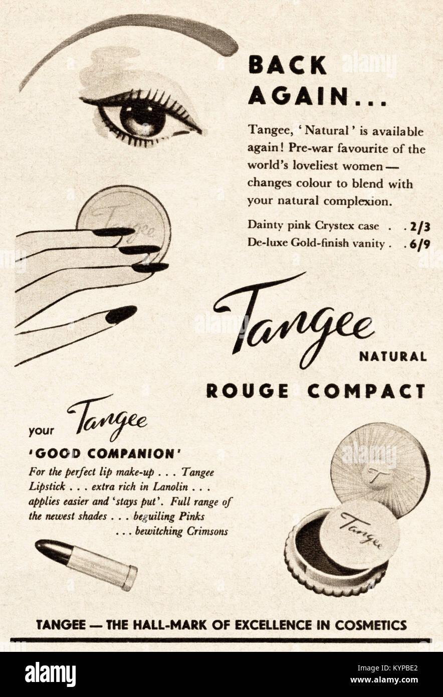 1950 old vintage publicité publicité originale Tangee