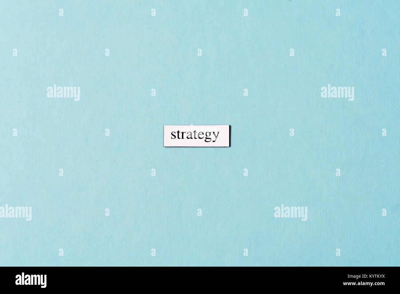 Le concept de stratégie de mise à plat avec copie espace Photo Stock