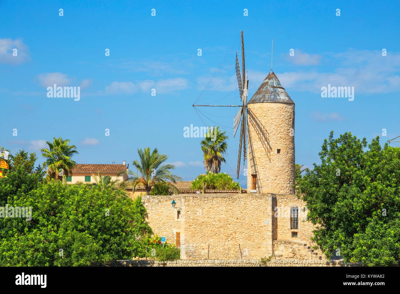Moulin à Sineu, Majorque, Iles Baléares, Espagne, Europe Photo Stock