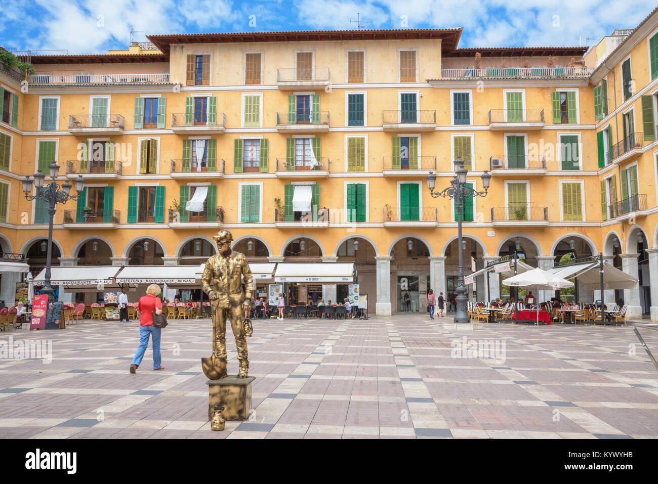 Plus grand Place, Palma de Mallorca, Majorque, Iles Baléares, Espagne, Europe Photo Stock