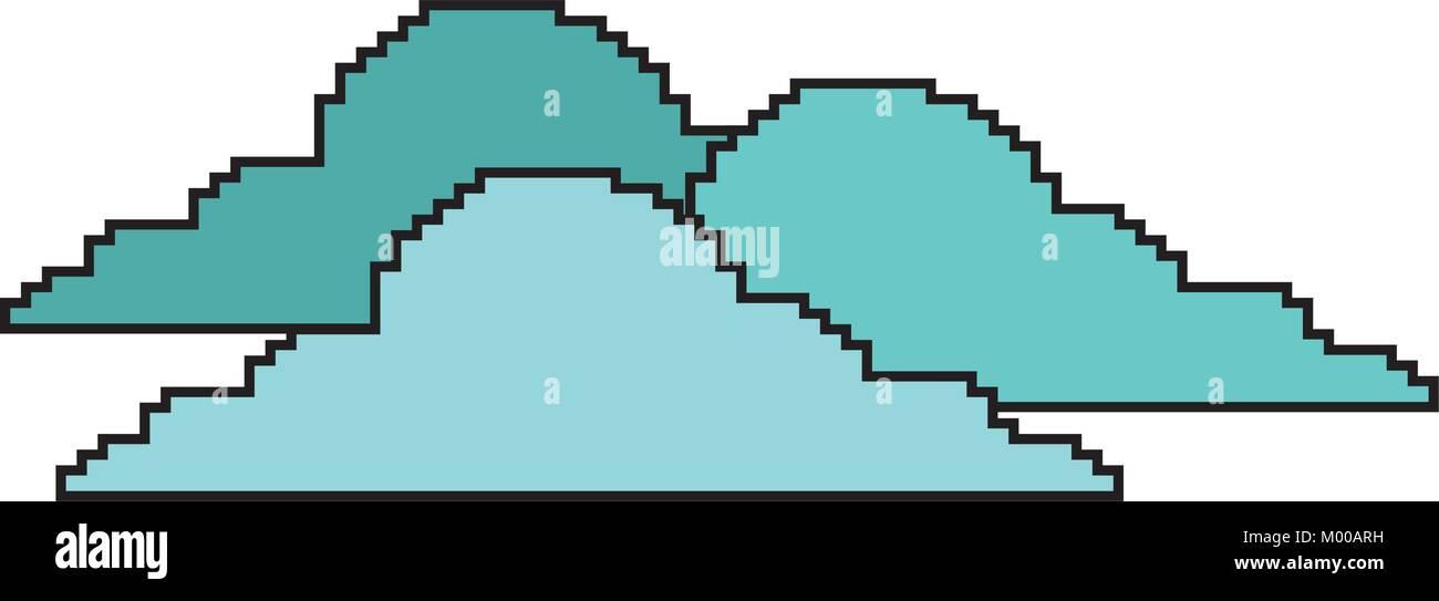 Pixel Nuages Nature Jour Climatique Vecteurs Et Illustration