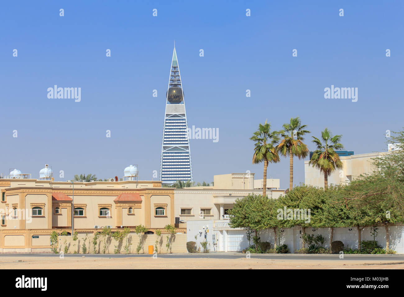 Rues de la région de Riyad en Arabie Saoudite Photo Stock