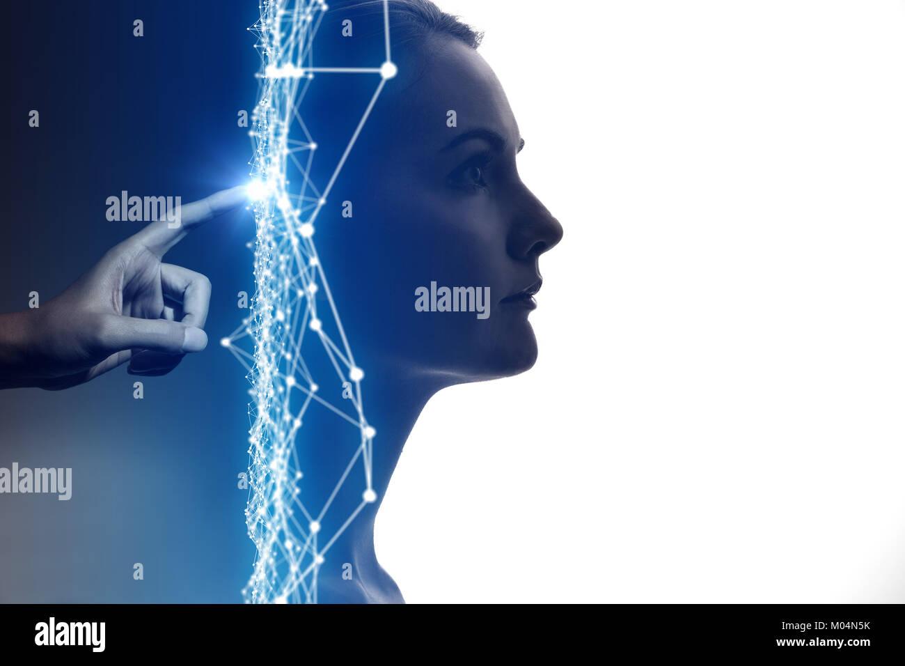 L'Intelligence Artificielle(IA) concept. Photo Stock