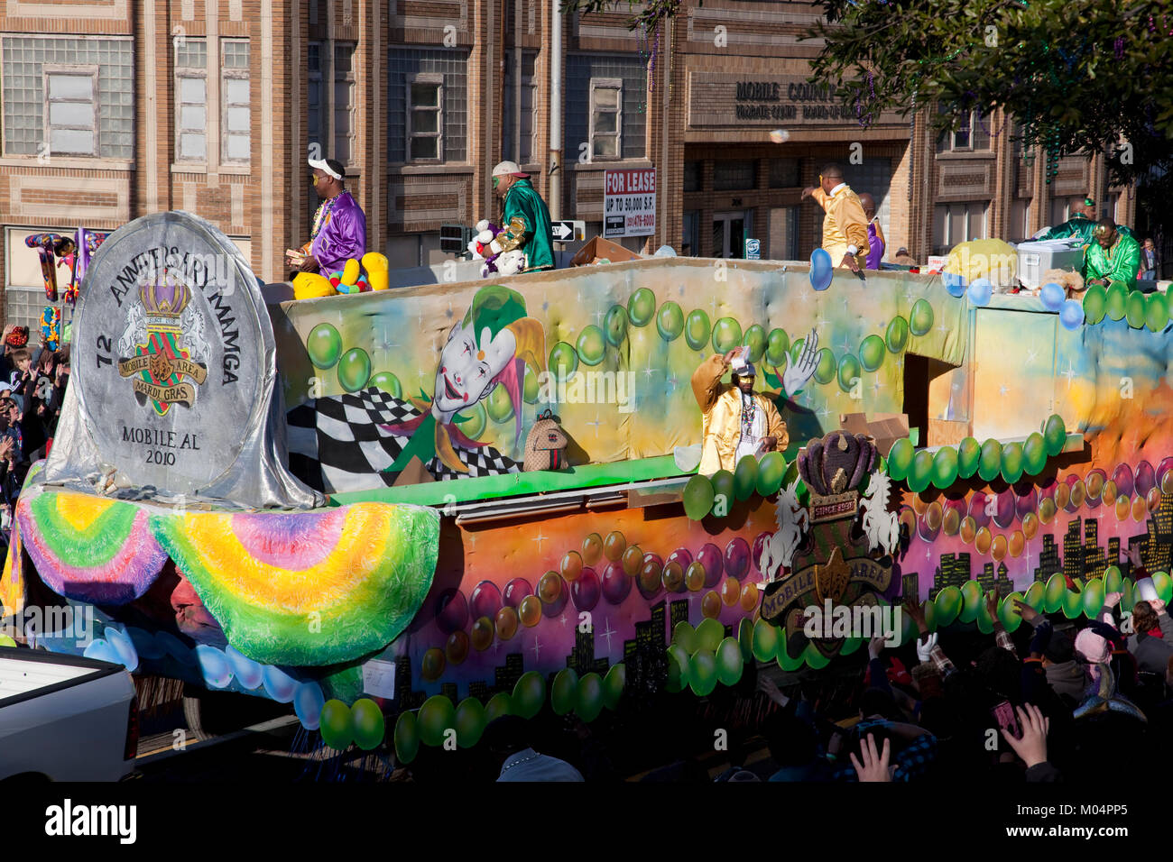 Flotteur Mardi Gras Photo Stock